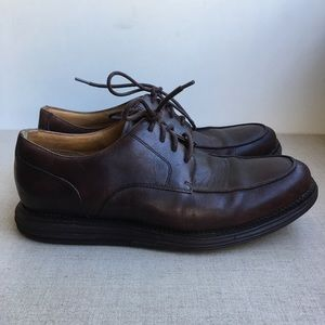 Cole Haan US 10 Brown Leather Oxford Lace-Up Shoes